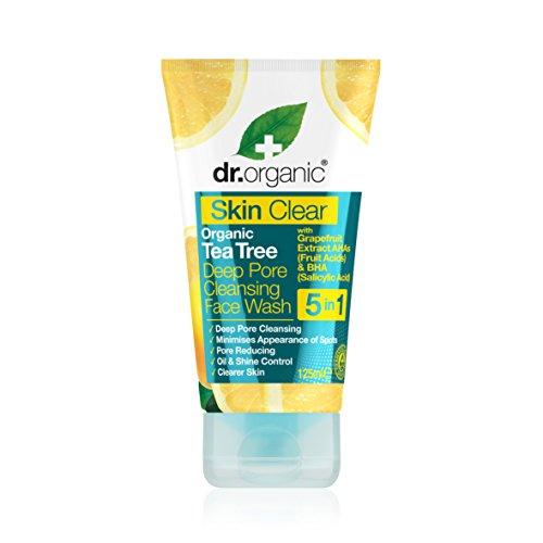 Dr. Organic Detergente Purificante per il Viso con Acido Salicilico, Skin Clear