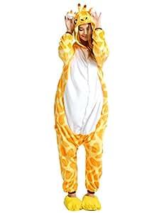 reine à la mode Pyjama Onesie Cospaly Party Fleece Costume (S, Giraffe)