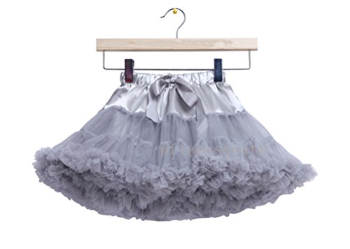 s Schminktisch Märchen Prinzessin Party Tutu Unterkleid Rock Grau (Diy Halloween-kostüme Für Schwangere Frauen)