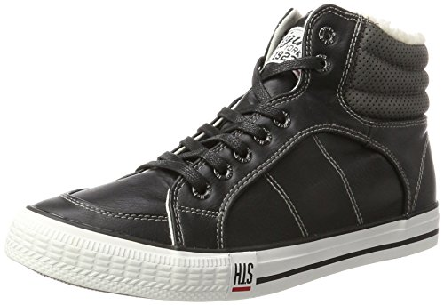 H.I.S Herren CT18-031 Hohe Sneaker, Schwarz (Bad-tempered/Charcoal), 42 EU
