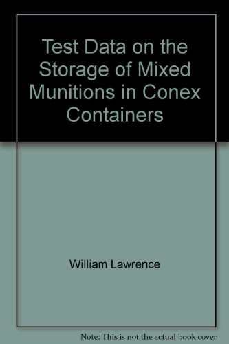 Test Data on the Storage of Mixed Munitions in Conex Containers Conex-container