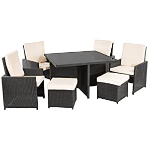 ultranatura poly rattan lounge set palma serie 9 teilig tisch 4 sessel 4. Black Bedroom Furniture Sets. Home Design Ideas