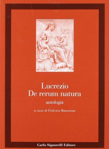 De rerum natura. Antologia