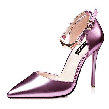 Moda Donna Sandali Sexy donna tacchi tacchi estate pu Casual Stiletto Heel altri nero / rosa / argento / Oro Altri Silver