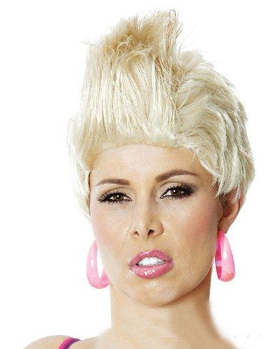 Mode Perücken WIGSTYLE Urlaub Partei Perücken neutral kurzen lockigen Haar schöner Pop-Rock-Sängerin in Europa und der ()