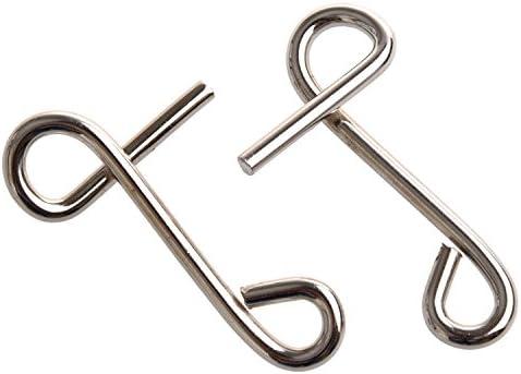 SODIAL(R) Jouet de puzzles intellectuelle a debloquer les boucles metalliques | La Reine De La Qualité