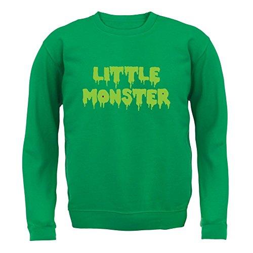 Kostüme Monster Baby Grün Baby (Kleines Monster - Kinder Pullover/Sweatshirt - Grün - XXL (12-13)