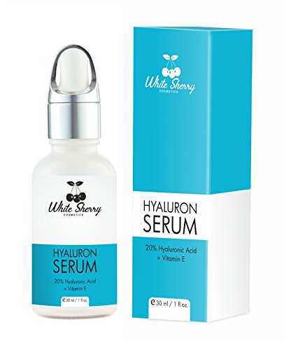 White Sherry Cosmetics® Hyaluronsäure Serum hochdosiert vegan I 20{7080168c1b12f8490136a8ab4cac30d3da76dfd1c92895117b6334ce11f89268} Hyaluronsäure + Vitamin E Serum Gesicht Hals Dekolleté I 30 ml Anti Aging Serum Beauty Hautpflege Gesichtspflege Hautserum