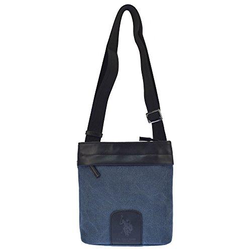 U.S.POLO ASSN. Umhängetasche mit Fronttasche und Gesäßtasche 20x4x22 cm Schwarz