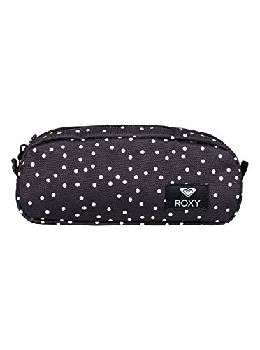 Roxy Da Rock Estuche Escolar, Mujer, Gris/Negro (True Black Dots for Days), Talla Única