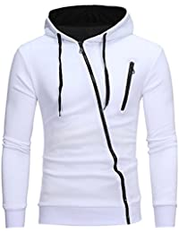 Semen Homme Sweater à Capuche Manche Longue Hoodie Sweat-shirt Sport Casual  Zippé Mode Veste e7f04ebeed6c