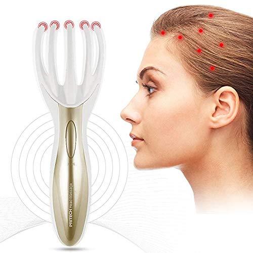 Preisvergleich Produktbild Elektrische Kopfhautmassage,  Kopfmassagegerät,  Soft-Finger-Greifer-Klaue Krake Gesicht Körper Muskelentspannung Relax,  Vibration Scalp Massage Tool (White)