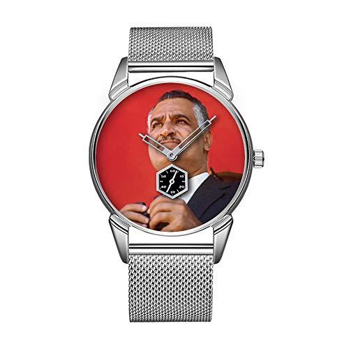 Mode wasserdicht Uhr minimalistischen Persönlichkeit Muster Uhr -386. Gamal Abd al Nasser größter Präsident Ägyptens!