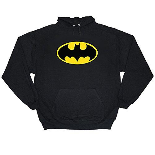 Batman DC Comics Classic Logo adulti Pullover Felpa con cappuccio Black S