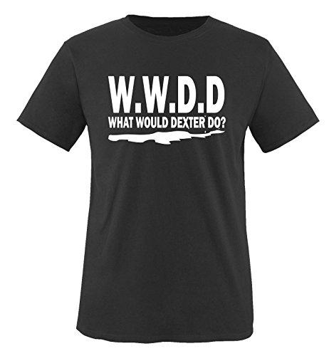 WHAT WOULD DEXTER DO - Herren Unisex T-Shirt Schwarz / Weiss