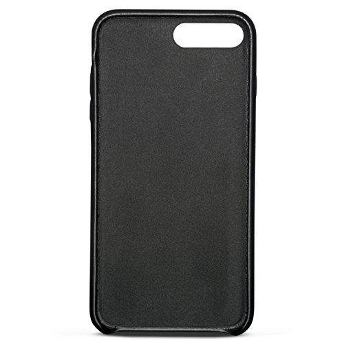 """iPhone 8 Lederhülle / iPhone 7 Lederhülle Schwarz - KANVASA """"Skin"""" Leder Case Hülle Ledertasche Luxus Echtleder Cover für Original Apple iPhone 8 & 7 (4,7"""") - Rindsleder Schutzhülle ultra dünn Schwarz iPhone 8 Plus & 7 Plus"""