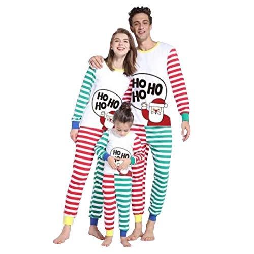 Poonkuos Familia Matching Navidad Conjuntos de Pijamas - Papa Mama Niños Vacaciones PJs Raya Ropa de Dormir para la Familia