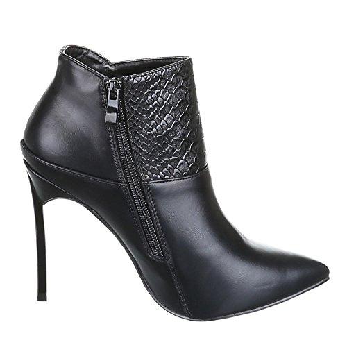 Chaussures, b433S-kB aNKLE bOOTS, hIGH hEELS femme Noir - Noir
