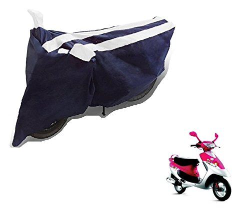 Auto Hub Black White Bike Body Cover For TVS Scooty Pep Plus  available at amazon for Rs.275