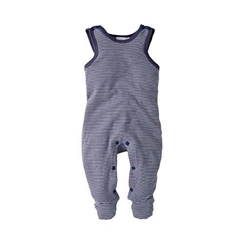 Bornino Strampler - gestreifter Baby-Einteiler mit Druckknöpfen in Schulter- & Schrittbereich - bequemer Overall aus Reiner Baumwolle -