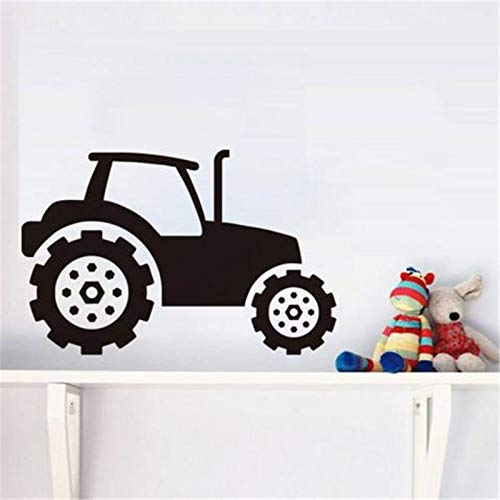 guijiumai Kinder Traktor Wandaufkleber Vinyl Selbstklebende Entfernbare Wandtattoos Für Kinderzimmer Auto Wandkunst Wandmalereien Wohnkultur schwarz 44x67 cm