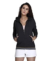 VERO MODA Womens Synthetic Pullover (197656701_Black_Medium)