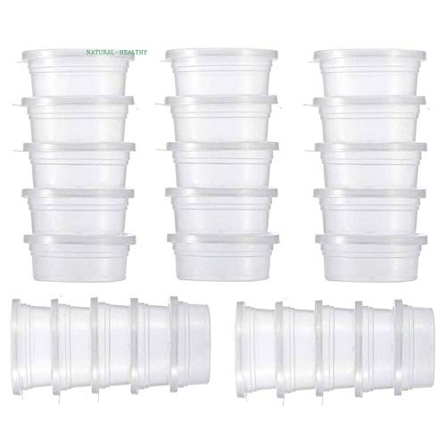 39d1ae183323 ATEZIEU Clear Slime Containers, Slime Storage Containers Foam Ball  Containers with Lids Clear Plastic Storage Jars for Soft Clay