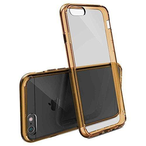 Ultra Dünnes TPU 14 cm (5,5 Zoll) Slim Silikon Schutzhülle für Apple iPhone 6 Plus durchsichtig blau Braun