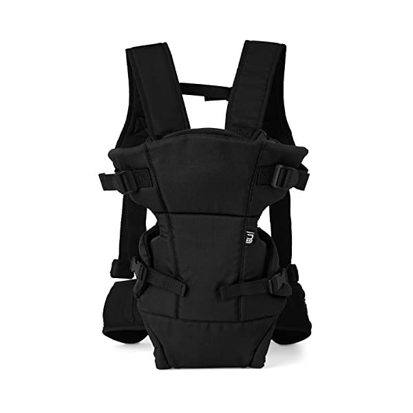 Mothercare Three Position Baby Carrier (Black) Mothercare Suitable from birth to a maximum weight of 12 kg 3-position carrier: front position facing in from birth, front position facing out from 3 months, from 6 months it can be worn on the back Removable Cushioned insert to provide added support and comfort for newborns 4