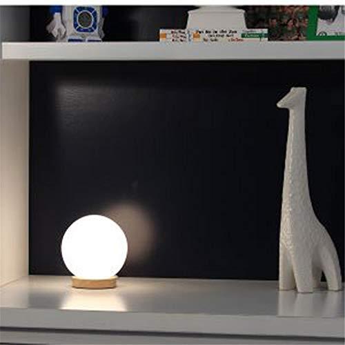 Lámpara de mesa moderna simple ropa de cama de madera maciza dormitorio junto a la luz LED estilo chino estudio japonés sala de estar lámpara de mesa de fondo redondo de madera inferior