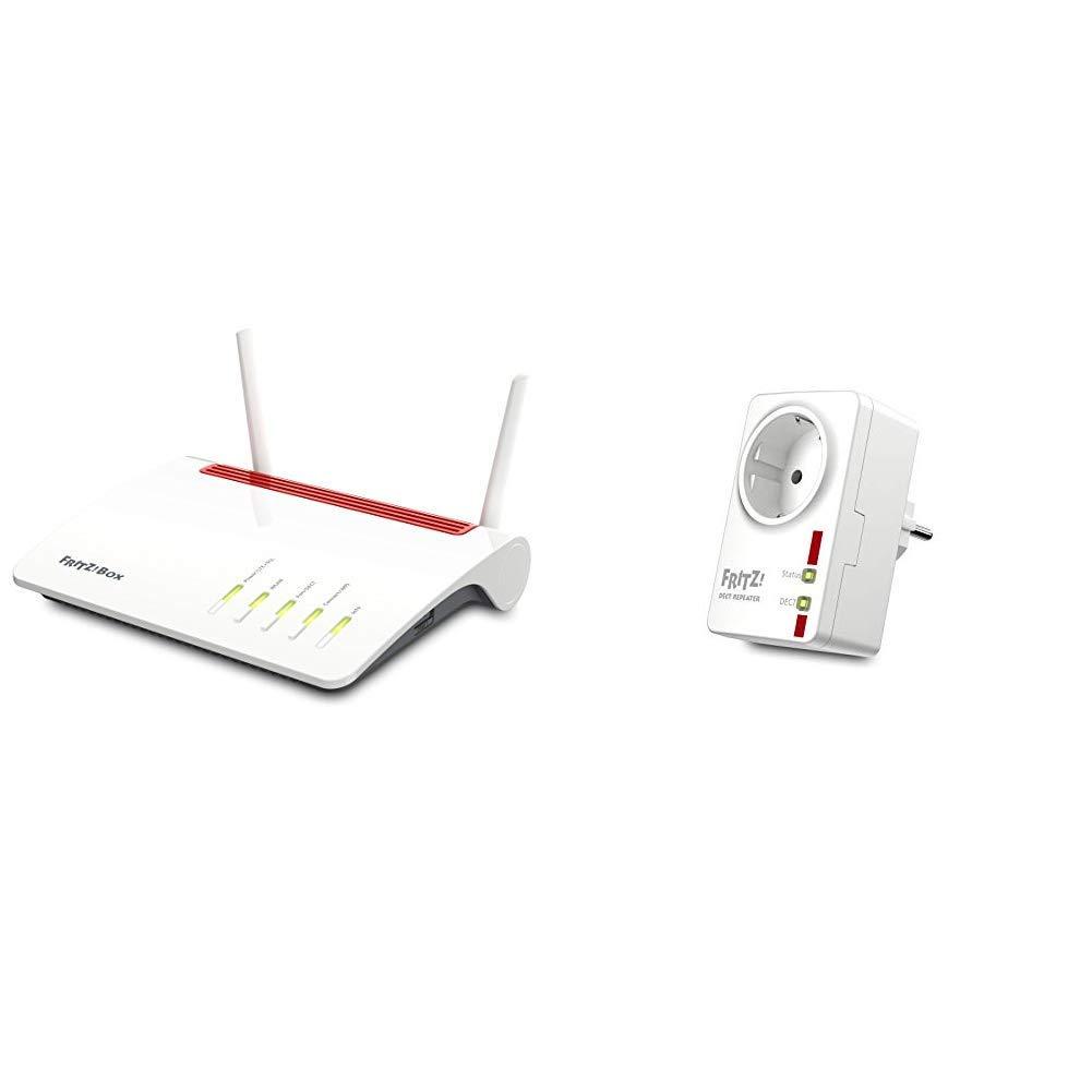 AVM FRITZ!Box 6890 LTE- oder DSL-Modem (bis 300 MBit/s, WLAN AC+N bis 1.733 (5 GHz) und 800 (2,4 GHz) MBit/s, 4 x…