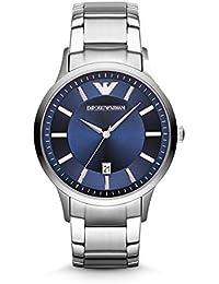 Emporio Armani  AR2477 - Reloj de cuarzo para hombre, con correa de acero inoxidable, color plateado