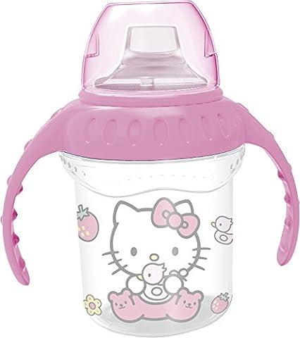 Verre Biberon Avec Poignée Hello Kitty Sanrio Plastique 0 BPA (Recommandé Pour l