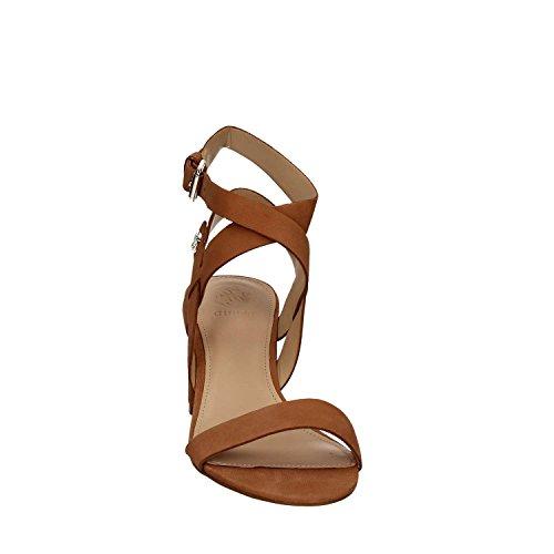 Guess Sandalo Donna Najya Tacco Cm 7 Suede Lugga Marrone Lugga
