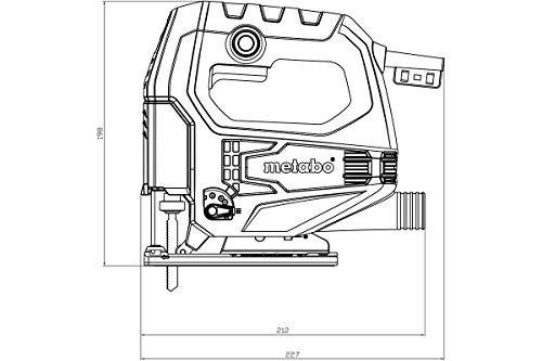 Metabo Stichsäge STEB 65 Quick / qualitativ hochwertige Säge 450 W mit Sechskantschlüssel und Kunststoffkoffer / robust und langlebig - 2