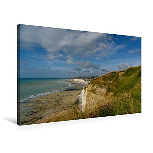 Premium Textil de lienzo 45cm x 30cm Horizontal la Costa en Criel de Sur de Mer De Normandía, 75x50 cm por Roger Steen