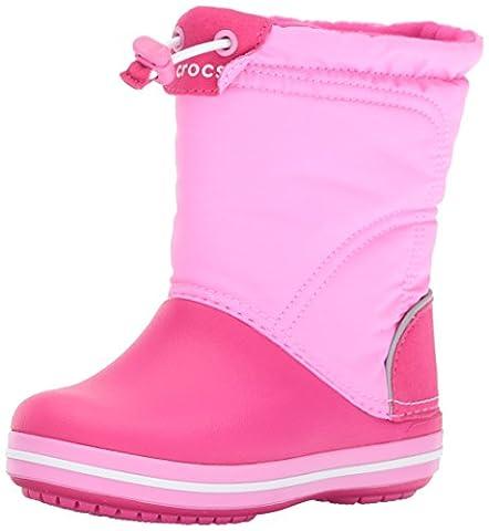 crocs Crocband LodgePoint Boot, Unisex-Kinder Kurzschaft Schlupfstiefel, Pink (Candy Pink/Party Pink 6LR), 29/30 EU (C12 Unisex-Kinder