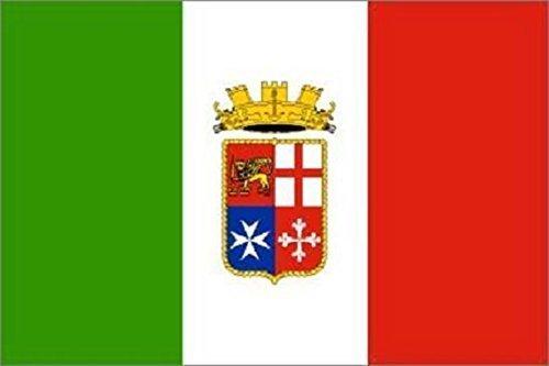 U24 Fahne Flagge Italien Handel Bootsflagge Premiumqualität 30 x 45 cm