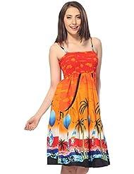 La Leela 3 en 1 lisses femmes croisière likre soleil, bikini maillot plage couvrent occasionnels robe sundress poches latéramaxi jupe sans manches sangle backless bandeaux dames robe de loungewear