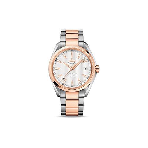 Omega hombre 42mm pulsera acero bicolor caja acero inoxidable automático reloj 23120422102001