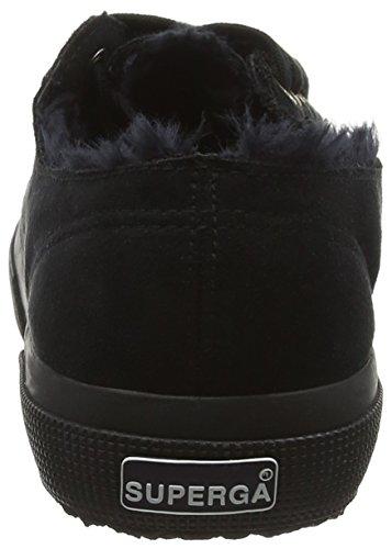 Superga Unisex-Erwachsene 2750 Syntshearlingm Sneaker Schwarz (A09 Full Black)