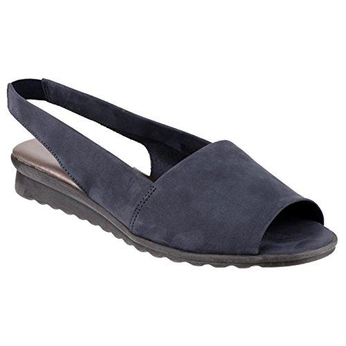 The Flexx Fantazee Nubuk Sandale mit offenem Zehenbereich Marineblau
