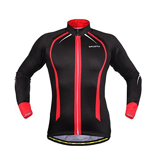 LiangyndaLian Unisex Radfahren Jacke Leichte, hohe Sichtbarkeit Winddicht Langarm Jacke Atmungsaktive Fahrradjacke, Red, M