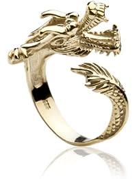InCollections Damen-Ring 333/000 Gold Größe von 52-64 verstellbar, Drachen 0010173415100