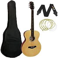 Tiger - Guitarra acústica (incluye accesorios), color natural