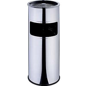 kaiserhoff 38 liter edelstahl standaschenbecher aschenbecher f r drau en outdoor m lleimer. Black Bedroom Furniture Sets. Home Design Ideas