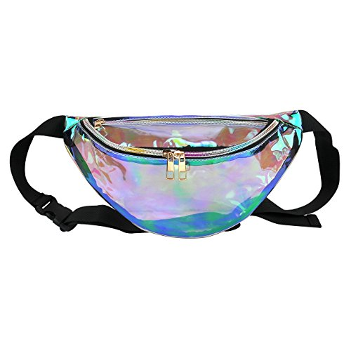 CHIC DIARY Fanny Pack Multifunctional Laser Waist Bag Sport Running Bum Bag for Women and Men or Kids (#01)