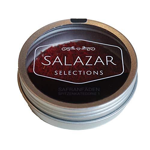 Salazar Safran 2g   100{94beef73ee67e745f1c21736c6c950d1b4b4d14ec101a42d474850ebff98695c} reine Safranfäden in Premium-Qualität (2 Gramm)   Safran in Fäden verpackt in der schicken Dose