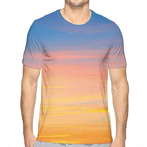 3D gedruckte T-Shirts, buntes Sonnenuntergang-Muster-Atmosphäre-drastisches majestätisches szenisches Skyline-Foto inspirierend