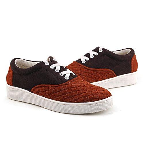 Shenduo - Sneakers & Mocassins pour homme Nubuck - Loafers confort - Chaussures de ville D7366 Rouge